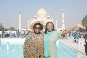 My mum, Lilian Mwaura and I at the Taj Mahal, India on Dec 9, 2012, two days before my surgery to remove the cancerous tumours  found in my breast.